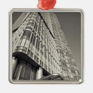 China, Beijing, Chaoyang District. Fortune Plaza 2 Silver-Colored Square Decoration