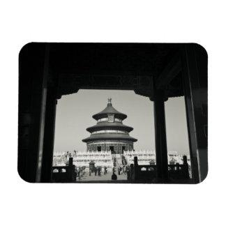 China, Beijing, Chongwen District. Temple of 2 Rectangular Photo Magnet
