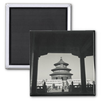 China, Beijing, Chongwen District. Temple of 2 Square Magnet