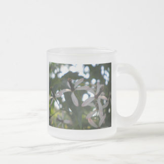 China Berry Flowers Frosted Glass Mug