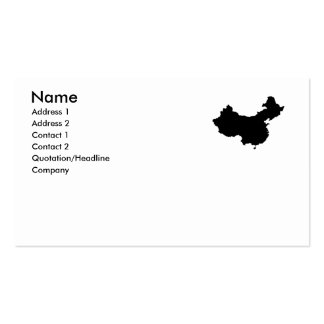 CHINA BUSINESS CARD TEMPLATE
