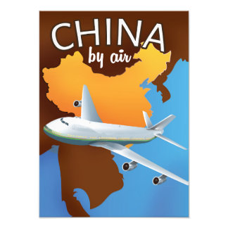 China By air travel poster Photograph