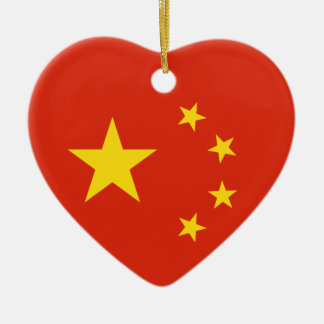 China Chinese Flag People's Republic of China Flag Christmas Ornament