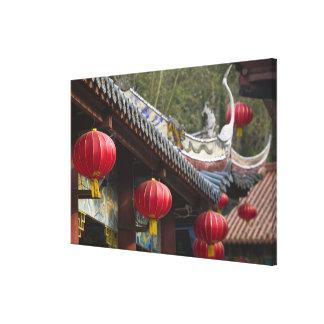 CHINA, Chongqing Province, Fengdu. Fengdu Ghost Canvas Print