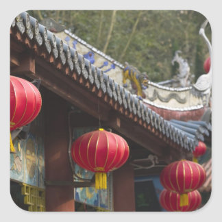CHINA, Chongqing Province, Fengdu. Fengdu Ghost Square Sticker
