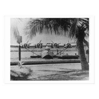 China Clipper Mooring on Hawaiian Island Postcard