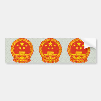 China Coat of Arms detail Bumper Sticker