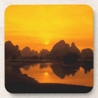 China. Colorful China. Beautiful Li river. Coaster