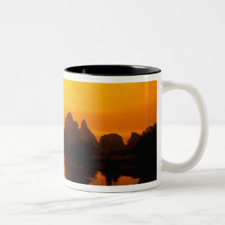 China. Colorful China. Beautiful Li river. Two-Tone Coffee Mug