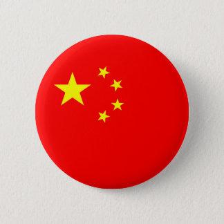 china country flag symbol 6 cm round badge