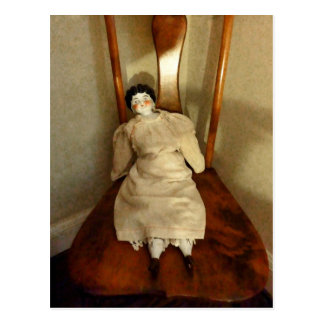 China Doll on Chair Post Cards