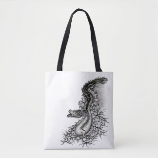 China Dragon in Tattoo Style Tote Bag