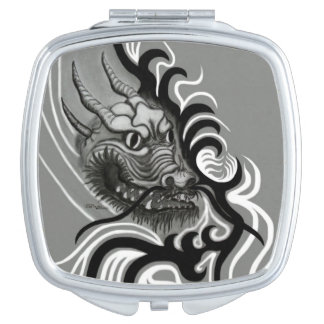 China Dragon in Tattoostyle Mirror For Makeup
