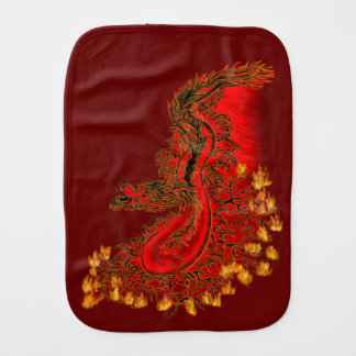 China Dragon red and gold design Burp Cloth