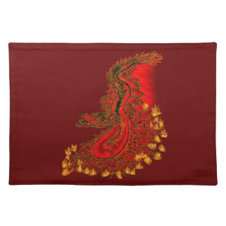 China Dragon red and gold design Place Mat