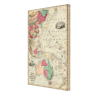 China EaSt. Indies Australia and Oceanica Canvas Print