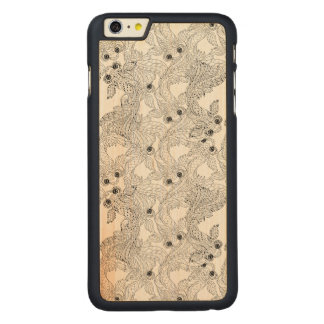 China Fish Doodle Carved Maple iPhone 6 Plus Case