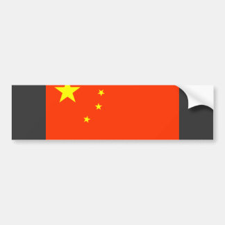 China Flag Bumper Sticker