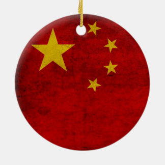 CHINA FLAG CHRISTMAS ORNAMENT