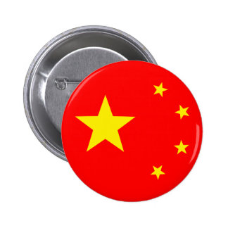 "China Flag ""Classic"" 6 Cm Round Badge"