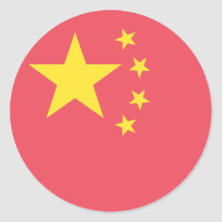 China Flag Classic Round Sticker
