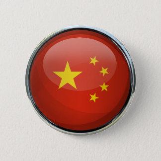 China Flag Glass Ball 6 Cm Round Badge