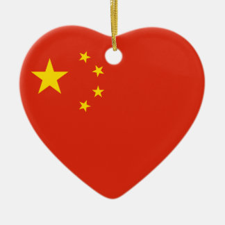 China Flag Heart Ornament