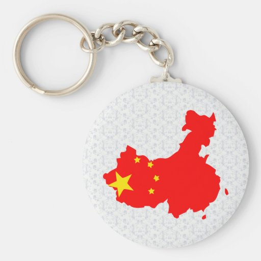 China Flag Map full size Key Chains