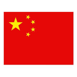 China Flag Postcard
