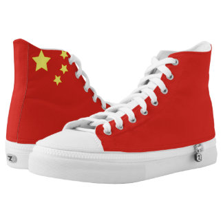China Flag Printed Shoes