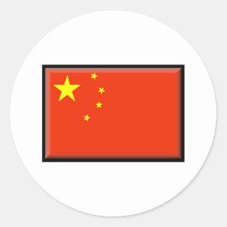 China Flag Round Sticker