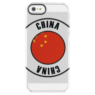 China Flag Simple Dark Clear iPhone SE/5/5s Case