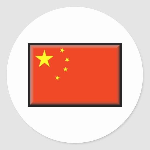 China Flag Stickers