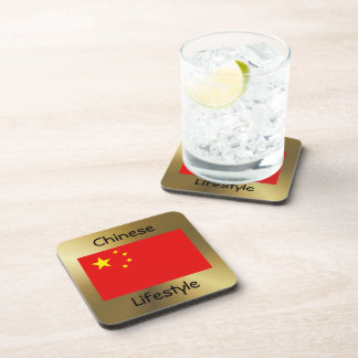 China Flag+Text Coaster
