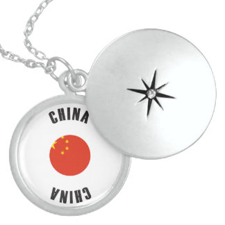 China Flag Wheel Sterling Silver Necklace