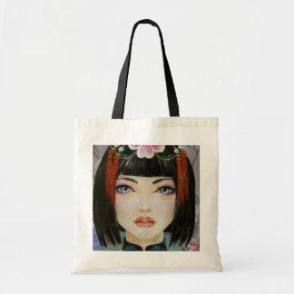 China Girl Lowbrow Art Painting Tote Bag