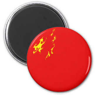China Gnarly Flag 6 Cm Round Magnet