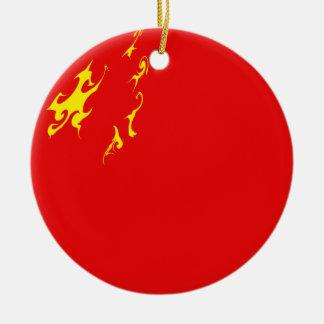 China Gnarly Flag Christmas Ornament