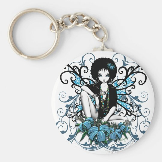 """China"" Gothic Retro Flower Fairy Keychain"