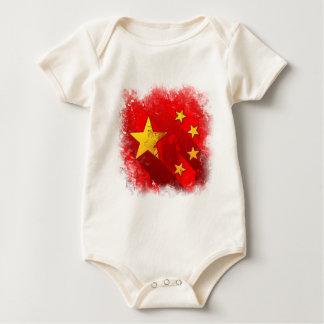 China grunge baby bodysuit
