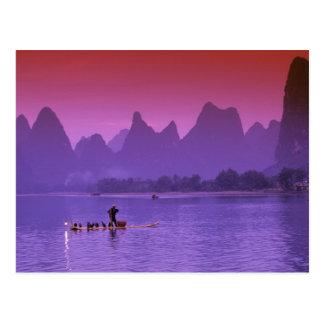 China Guanxi Li river single cormorant Postcards