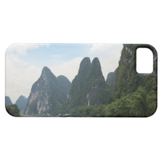 China, Guilin, Li River, River boats line the iPhone 5 Cover