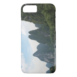 China, Guilin, Li River, River boats line the iPhone 8/7 Case