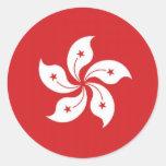 China Hong Kong Flag Round Sticker