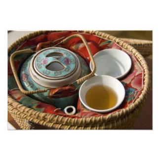 China, Hong Kong. Traditional Chinese teapot & Photo Print