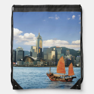 China; Hong Kong; Victoria Harbour; Harbor; A Drawstring Bag