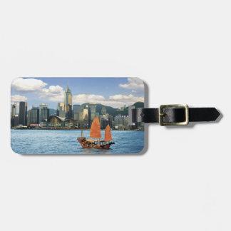 China; Hong Kong; Victoria Harbour; Harbor; A Luggage Tag
