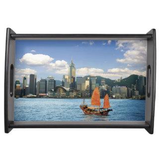 China; Hong Kong; Victoria Harbour; Harbor; A Serving Tray
