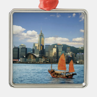 China; Hong Kong; Victoria Harbour; Harbor; A Silver-Colored Square Decoration