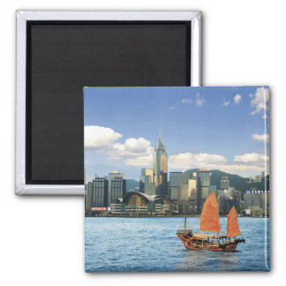 China; Hong Kong; Victoria Harbour; Harbor; A Square Magnet